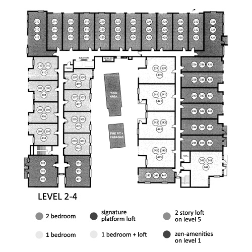 Aloft Floor Plan Level 2,3,4