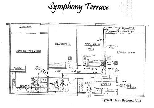 Symphony Terrace Floor Plan 3 Bed