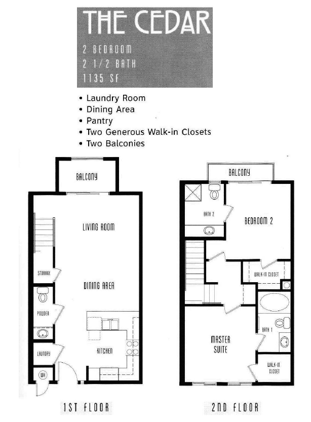 The Lodge Floor Plan The Cedar