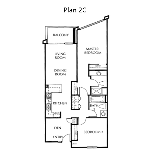 The Mills Floor Plan 2C