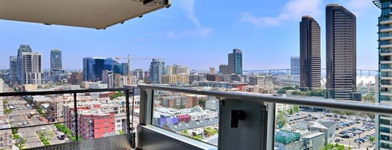Downtown San Diego Condo Balcony View